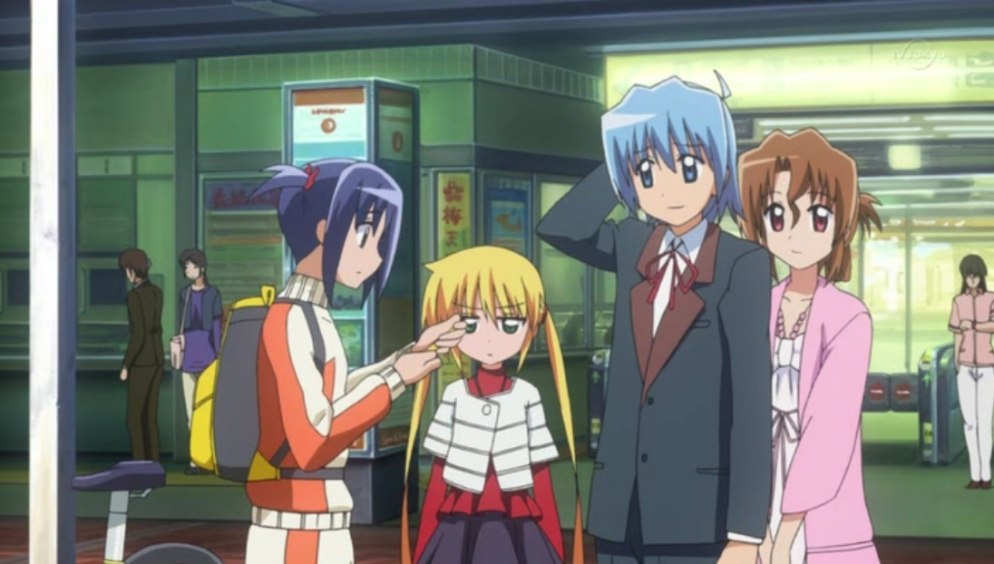 Nagi is looking at the studio audience while the rest are doing their thing.