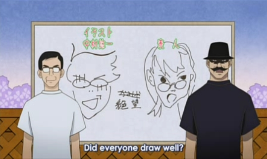 I lawl at the staff at Shaft's drawings of Nozomu.