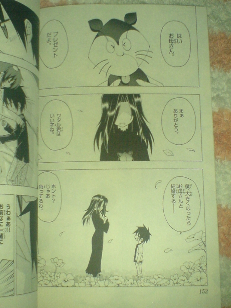 Flashback between Wataru and his mother (Mikoto Tachobana).