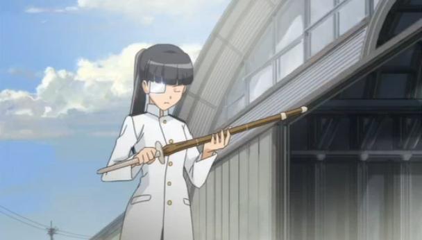 Instead of a Japanese Sword, Sakamoto originally had a Shinai (Kendo sword).